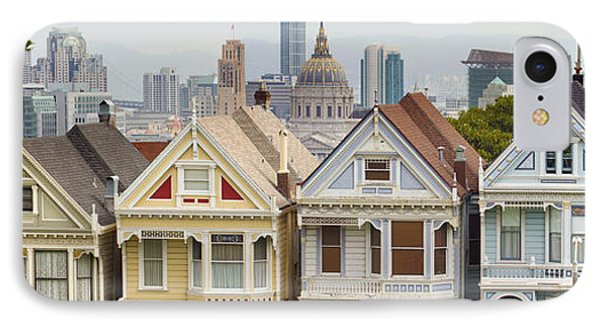 Painted Ladies Row Houses By Alamo Square IPhone Case by Jit Lim