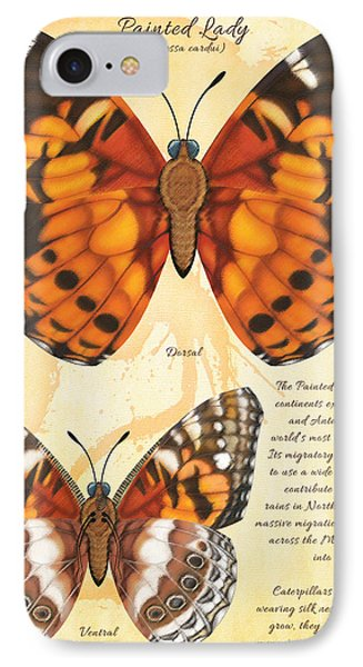 Painted Lady Butterfly Phone Case by Tammy Yee