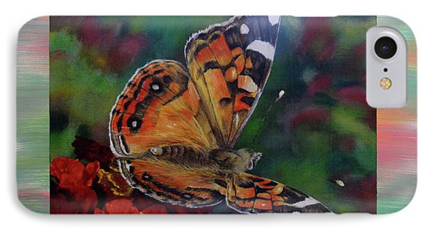 Painted Lady By Karen Peterson Phone Case by Karen  Peterson
