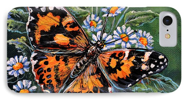 Painted Lady IPhone Case by Gail Butler