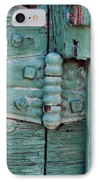 Painted Metal And Wood IPhone Case by Kae Cheatham