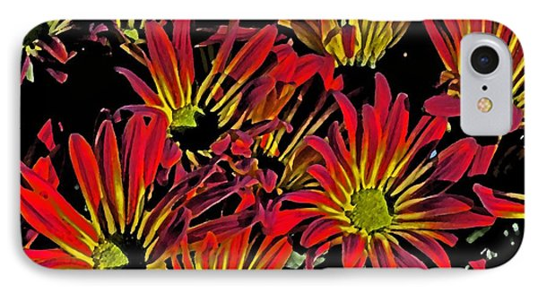 Painted Mums IPhone Case by Judy Wolinsky