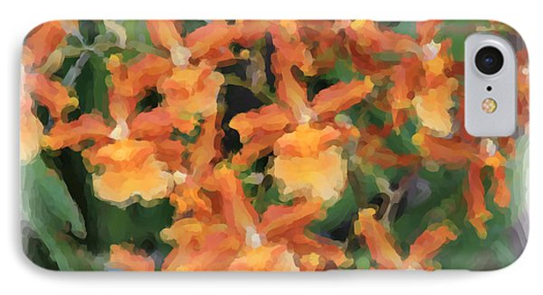 Painted Orchids IPhone Case by Rosalie Scanlon
