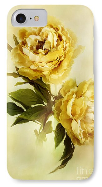 Painted Peonies IPhone Case