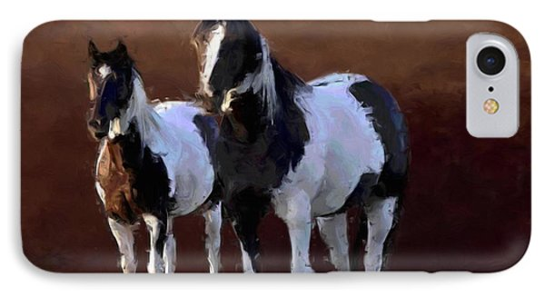 Painted Ponies Phone Case by Roger D Hale