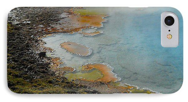 IPhone Case featuring the photograph Painted Pool Of Yellowstone by Michele Myers
