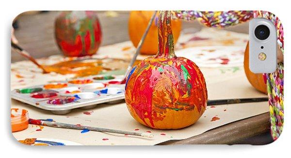 Painted Pumpkins IPhone Case by Verena Matthew