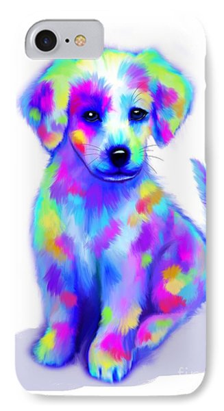 Painted Pup IPhone Case by Nick Gustafson