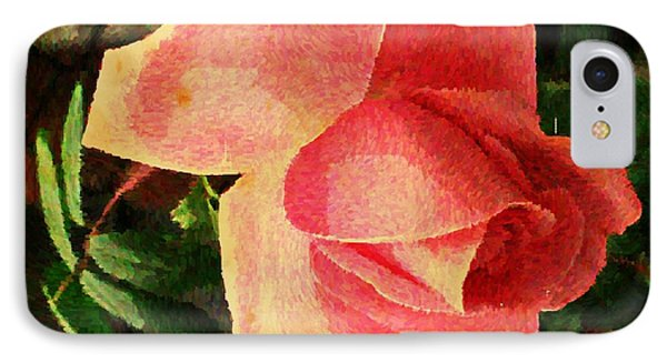 Painted Rose IPhone Case by Judy Palkimas
