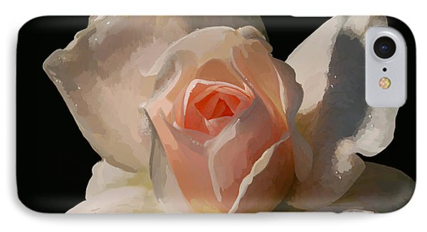 Painted Rose Phone Case by Lois Bryan