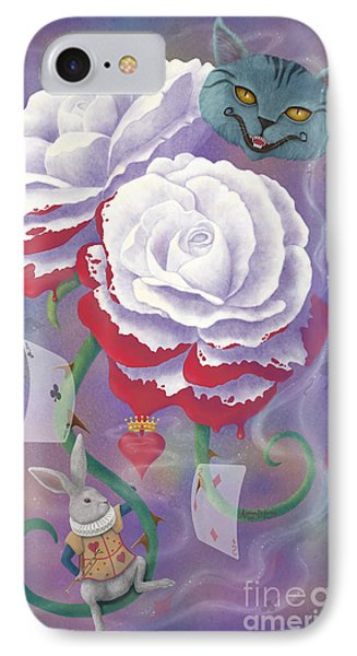 Painted Roses For Wonderland's Heartless Queen Phone Case by Audra D Lemke