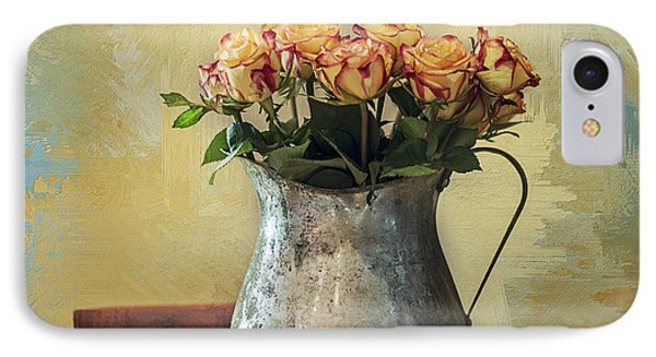 Painted Roses Phone Case by Terry Rowe
