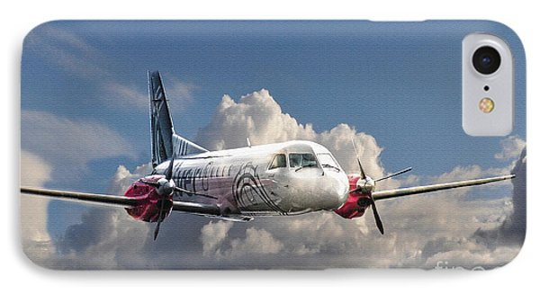 Painted Silver Flying 2 IPhone Case
