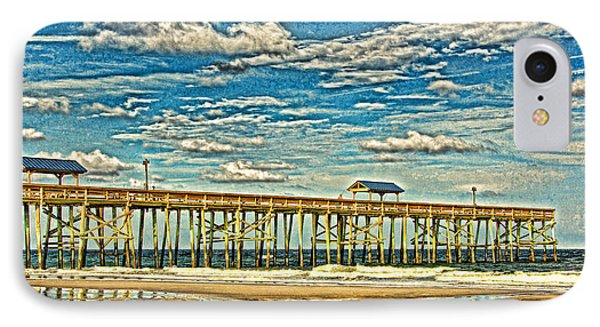 IPhone Case featuring the photograph Surreal Reflection Pier by Paula Porterfield-Izzo