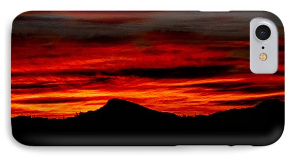 IPhone Case featuring the photograph Painted Sky 45 by Mark Myhaver