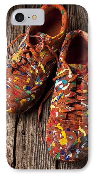 Painted Tennis Shoes Phone Case by Garry Gay