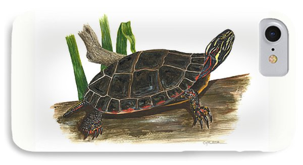 Painted Turtle Phone Case by Cindy Hitchcock