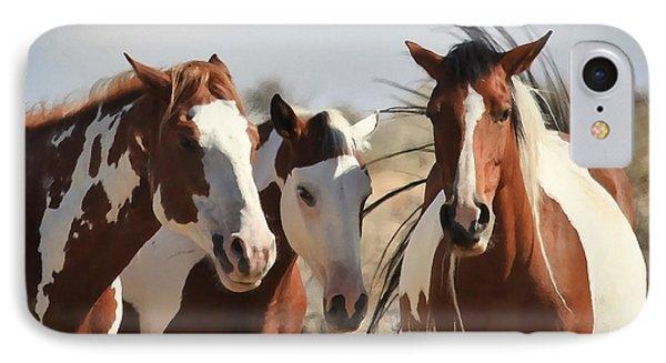 Painted Wild Horses Phone Case by Athena Mckinzie