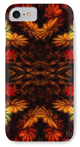 Painterly Fall Fractal Abstract  IPhone Case