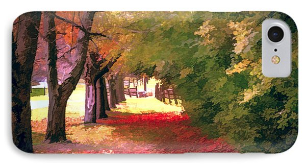 Painterly Forest Trail IPhone Case by Jim Lepard