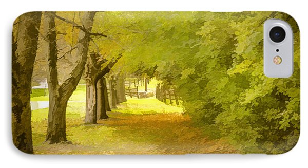 Painterly Pathway IPhone Case by Jim Lepard