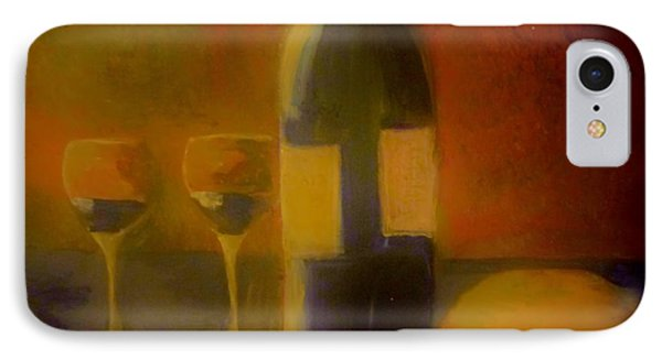 Painting And Wine IPhone Case by Lisa Kaiser