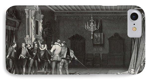 Painting By Paul Delaroche Assassinat Du Duc De Guise Au IPhone Case by Artokoloro