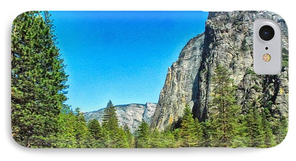 Painting Cathedral Rock Yosemite National Park IPhone Case