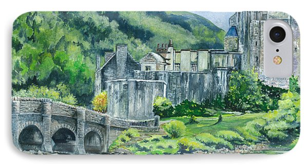 Eilean Donan Medieval Castle Scotland IPhone Case by Carol Wisniewski