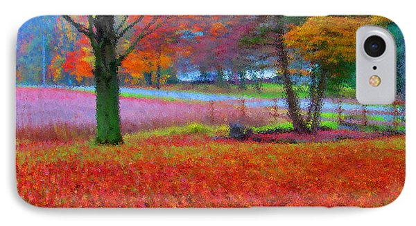 Painting Like Frontyard In Autumn Phone Case by Tina M Wenger