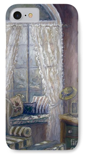 Painting Of A Child's Bedroom/ Digitally Altered IPhone Case by Sandra Cunningham