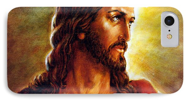 Painting Of Christ Phone Case by John Lautermilch