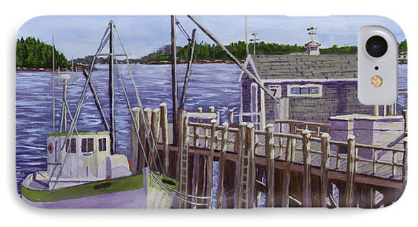 Fishing Boat Docked In Boothbay Harbor Maine IPhone Case by Keith Webber Jr