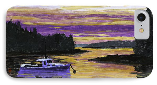 Lobster Boat In Port Clyde Maine At Sunset IPhone Case