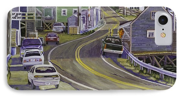 Main Street South Bristol Maine IPhone Case by Keith Webber Jr