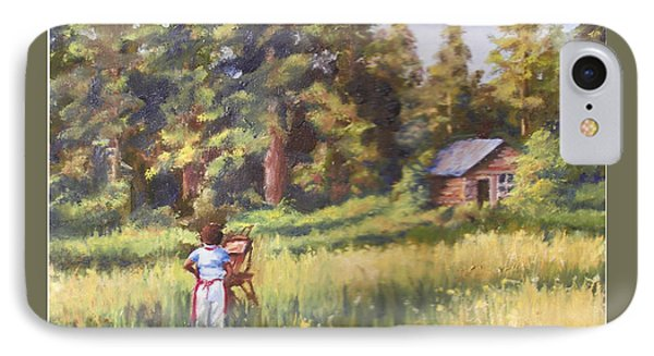Painting Plein Aire In Idaho IPhone Case