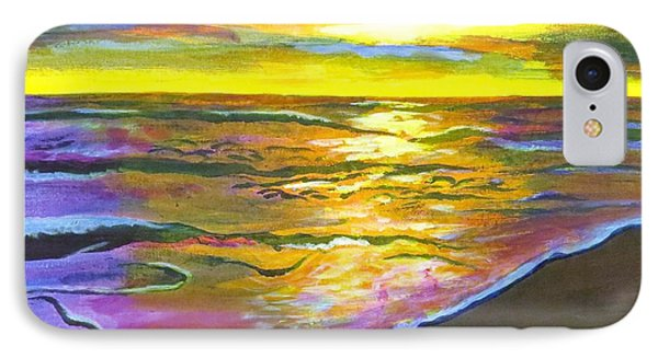 Painting Sanibel Island Beach IPhone Case by Judy Via-Wolff