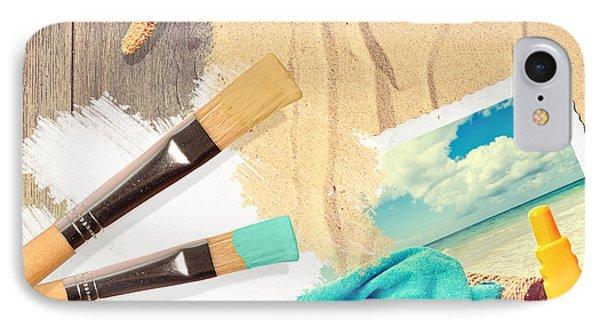 Painting Summer Postcard Phone Case by Amanda Elwell