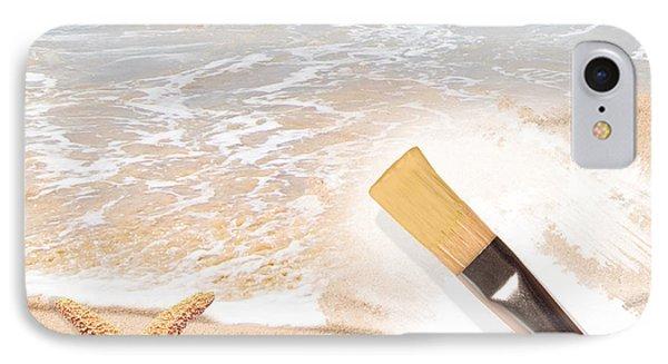 Painting The Beach Phone Case by Amanda Elwell
