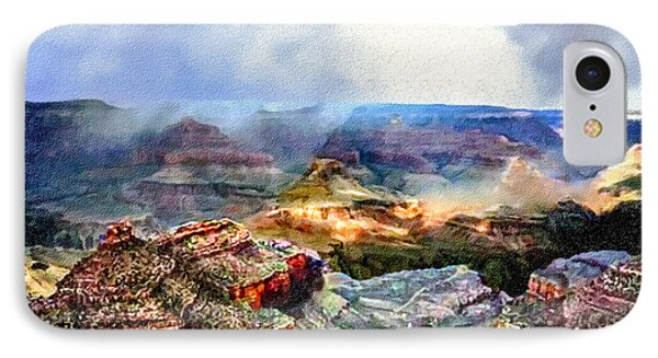 Painting The Grand Canyon IPhone Case by Bob and Nadine Johnston
