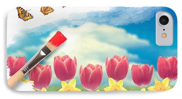 Painting Tulips Phone Case by Amanda Elwell