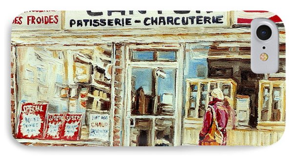 Paintings Of Vintage Montreal City Scenes Cantors Bakery West End Montreal IPhone Case