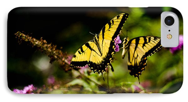 Pair Of Yellow Swallowtails IPhone Case by Bruce Pritchett