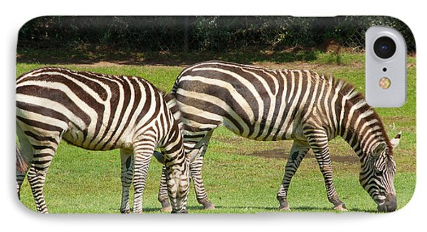 IPhone Case featuring the photograph Pair Of Zebras by Charles Beeler