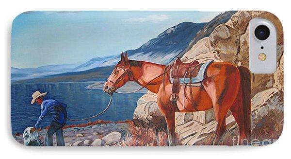 Paiute Boy At Walker Lake Phone Case by Joseph Juvenal