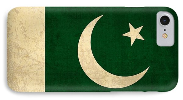 Pakistan Flag Vintage Distressed Finish IPhone Case by Design Turnpike