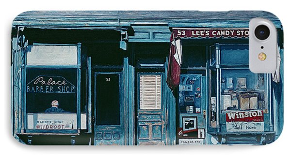 Palace Barber Shop And Lees Candy Store IPhone Case by Anthony Butera