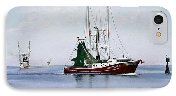 IPhone Case featuring the painting Palacios Boats by Jimmie Bartlett