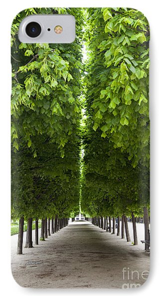 Palais Royal Trees IPhone Case by Brian Jannsen