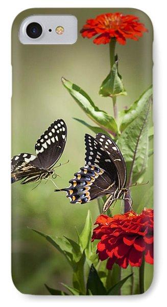 Palamedes Swallowtail Butterflies Phone Case by Jo Ann Tomaselli